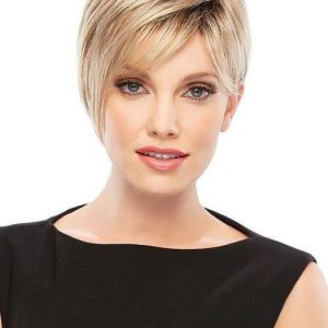 Short Straight Women's Blonde Brunette Synthetic Wig By Rooted