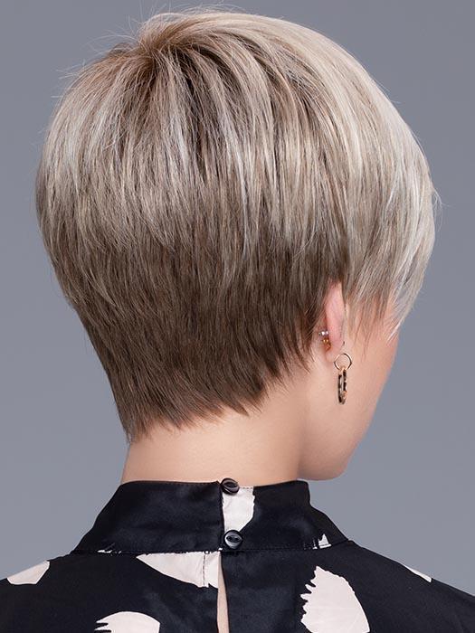 Short Women's Straight Brunette Synthetic Wig Mono Crown