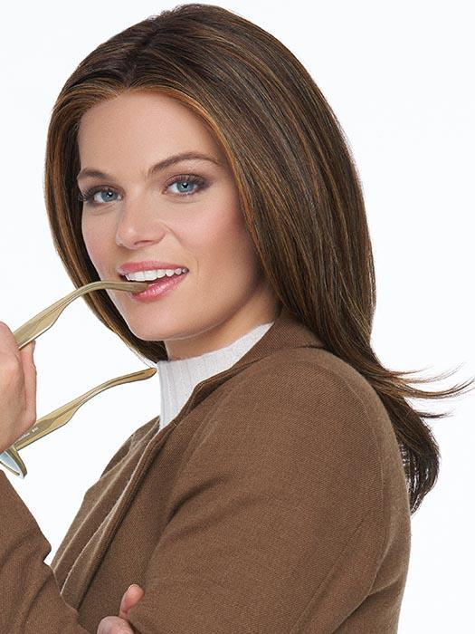 Mid-length Women's Straight Hf Synthetic Lace Front Wig By Rooted