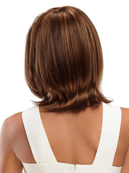 Mid-length Monofilament Straight Women's Synthetic Lace Front Wig By Rooted