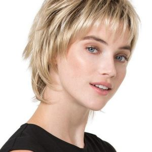 Red Women's Short Straight Synthetic Wig By Rooted