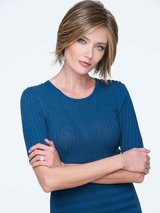 Women's Black Short Straight Synthetic Lace Front Wigs