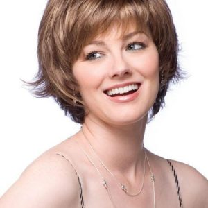 Short Straight Women's Monofilament Synthetic Wig Mono Top