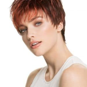 Women's Pixie Short Straight Synthetic Wig Mono Crown By Rooted