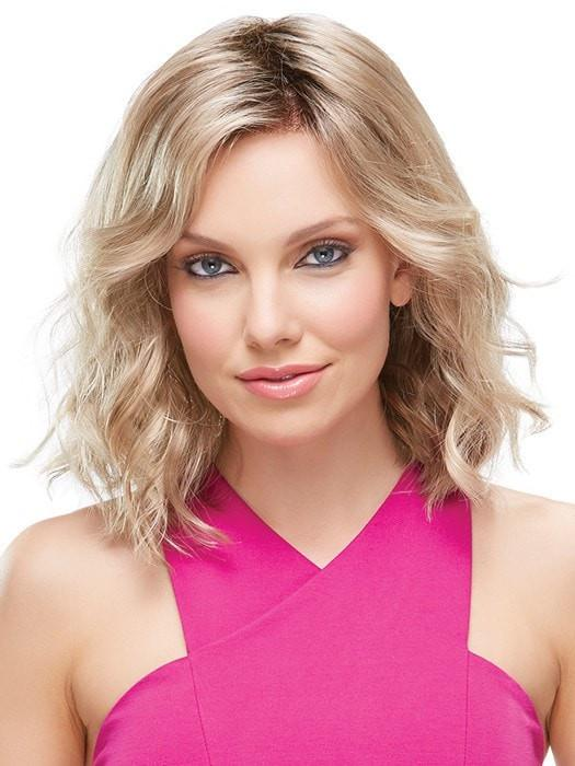 Women's Mid-Length Blonde Synthetic Lace Front Wig