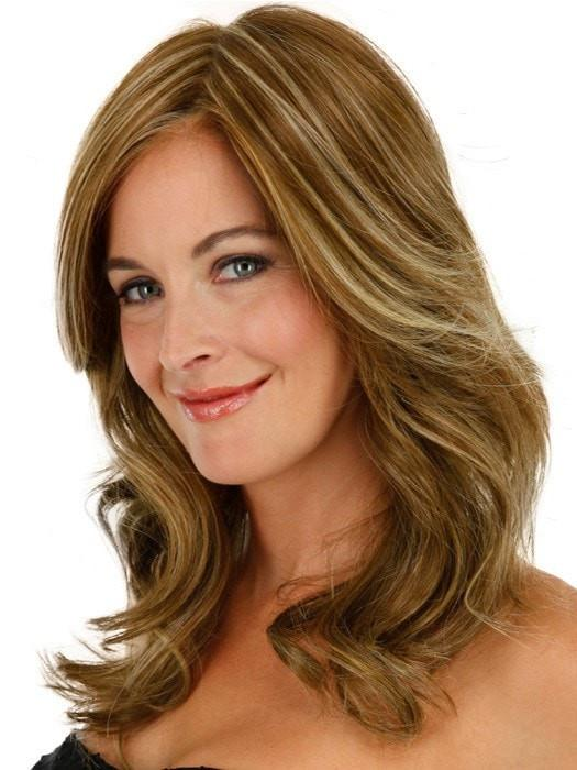 Women's Blonde Monofilament Synthetic Lace Front Wig Wavy By Rooted