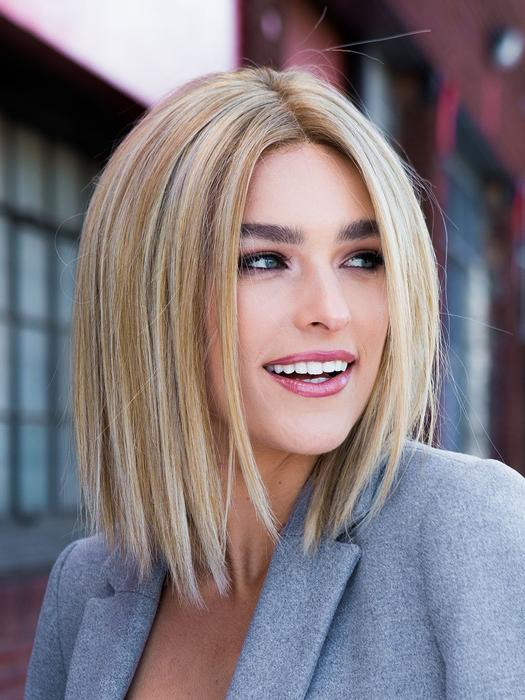 Women's Wavy Monofilament Human Hair/ Synthetic Blend Lace Front Wig