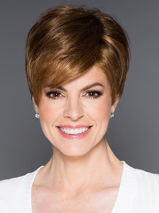 Women's Short Synthetic Lace Front Wig Brunette