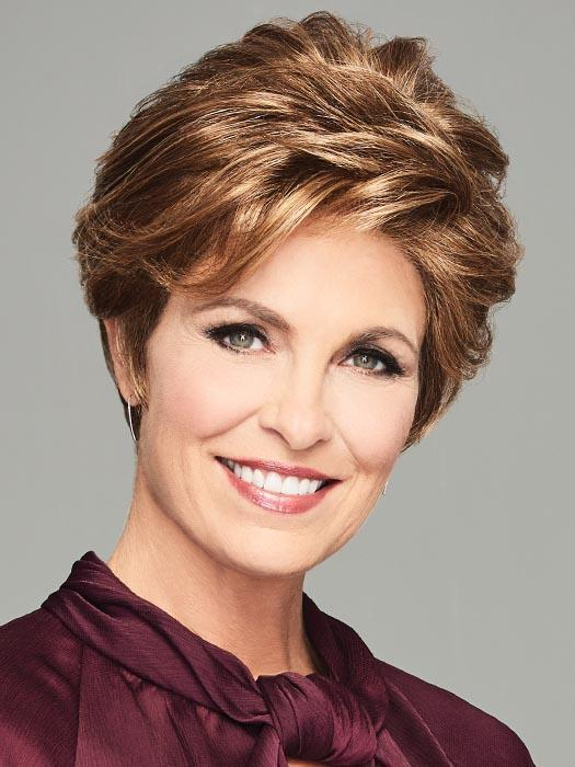 Short Straight Women's Synthetic Lace Front Wig Mono Part By Rooted