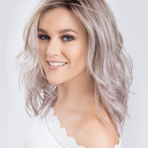 Mid-length Women's Colored Wavy Synthetic Lace Front Wig Mono Crown