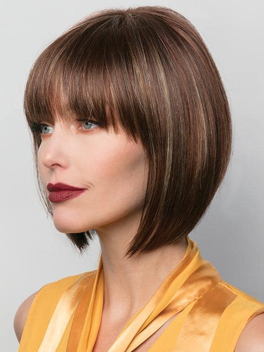Women's Straight Blonde Short Synthetic Wig Basic Cap By Rooted