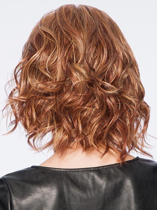 Women's Mid-length Wavy Gray Layered Synthetic Basic Cap