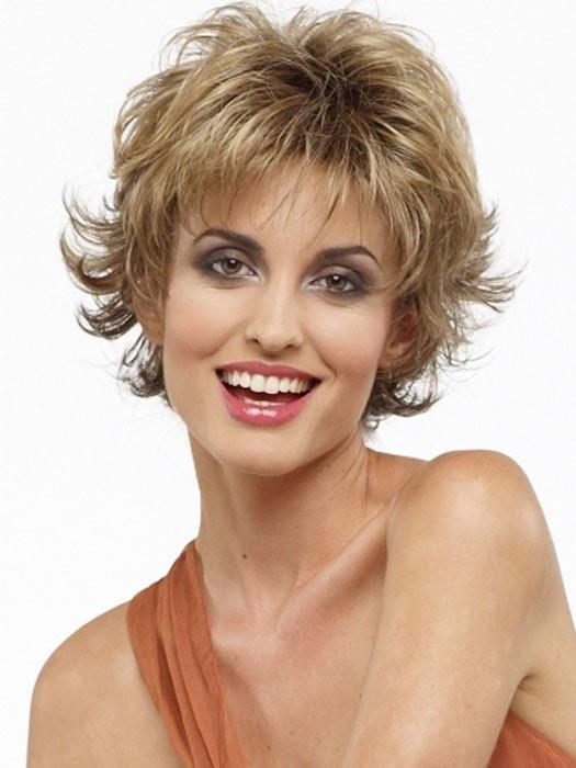 Blonde Women's Short Wavy Synthetic Wig Basic Cap By Rooted
