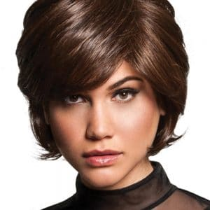 Women's Short Straight Brunette Hf Synthetic Wig By Rooted