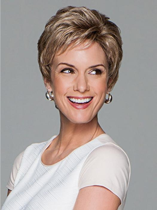 Women's Blonde Pixie Wavy Monofilament Synthetic Lace Front Wig