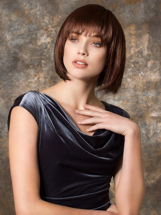 Women's Mid-length Straight Synthetic Wig Mono Crown By Rooted