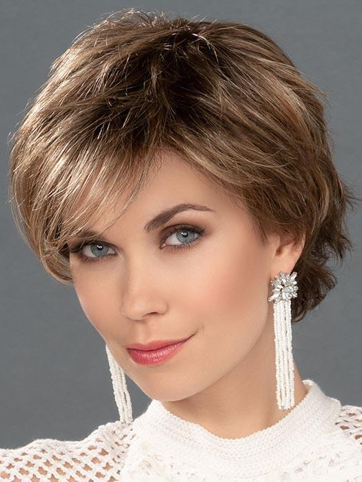 Short Women's Blonde Monofilament Synthetic Lace Front Wig