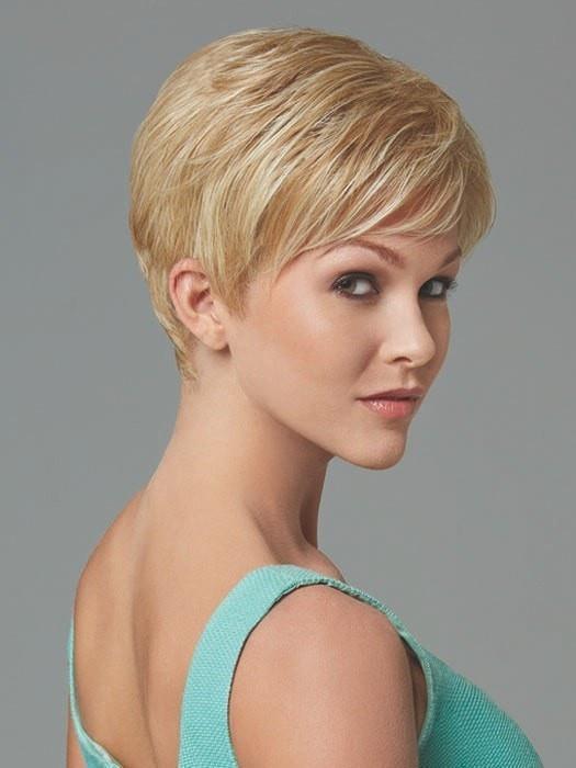 Short Women's Straight Synthetic Wig Basic Cap Brunette
