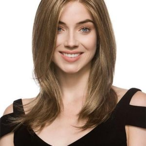 Mid-length Blonde Women's Monofilament Synthetic Lace Front Wig