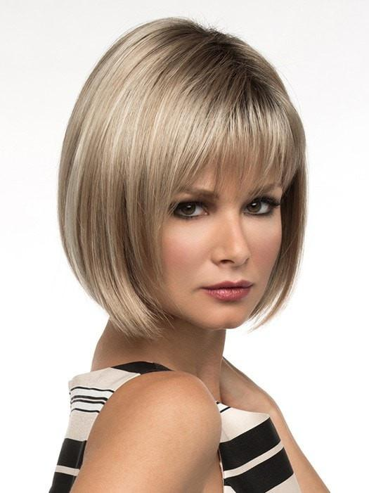 Women's Short Blonde Synthetic Wig Basic Cap Brunette By Rooted