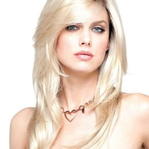 Long Straight Women's Synthetic Wig Monofilament Mono Top